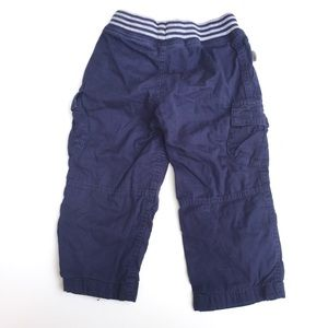 Hanna Andersson Bottoms - Hanna Andersson Baby Cargo Pants Cotton Navy Blue